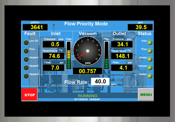 Oil Filtration Systems - Control System